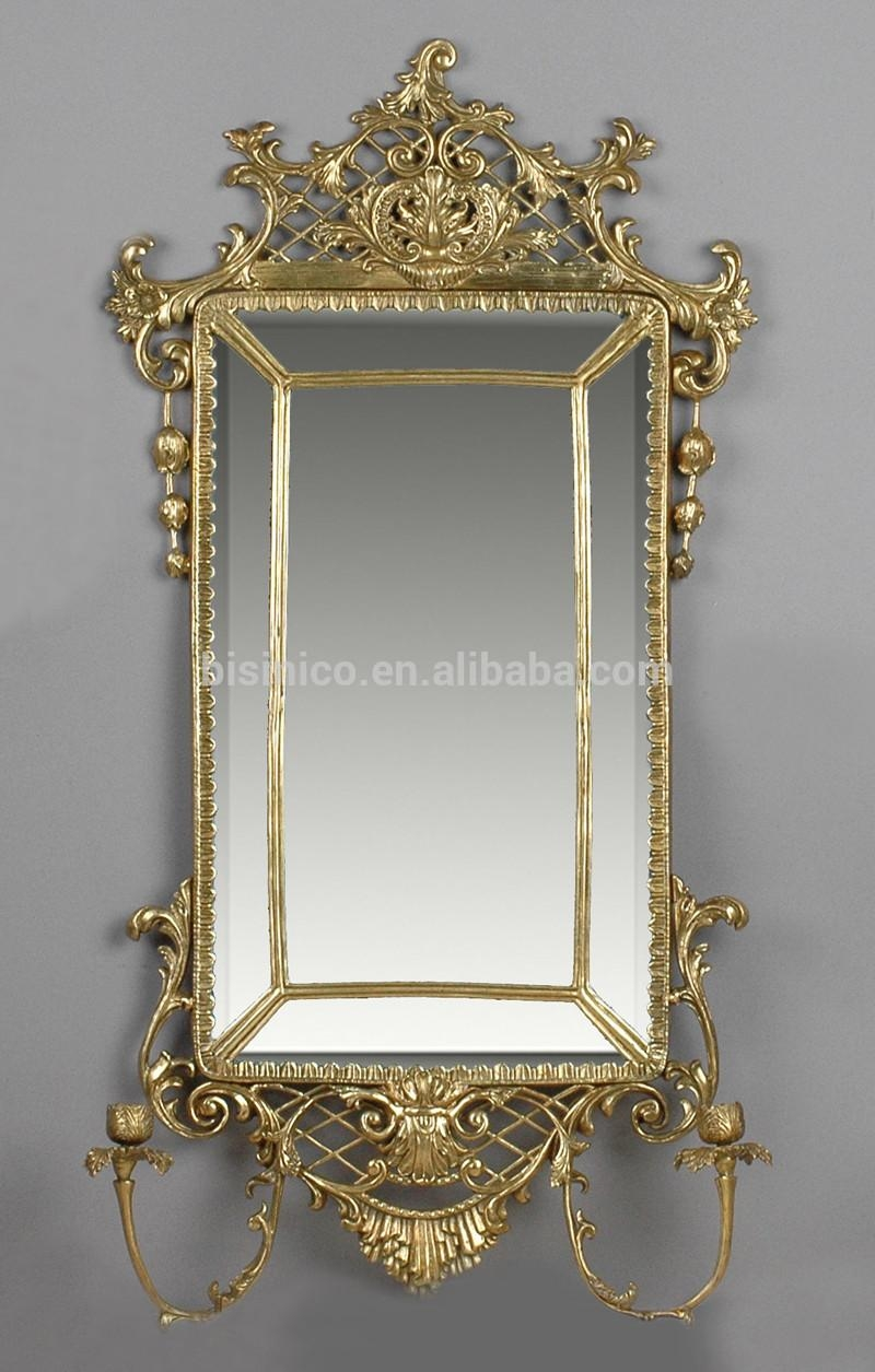 European Style Oval Bronze Wall Mirror,unique Design Brass Art Intended For Bronze Wall Mirror (Image 4 of 20)