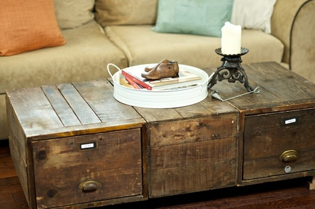 Excellent Best Antique Rustic Coffee Tables Inside Rustic Trunk Coffee Table Vintage Rustic Trunk Coffee Table With (Image 17 of 50)