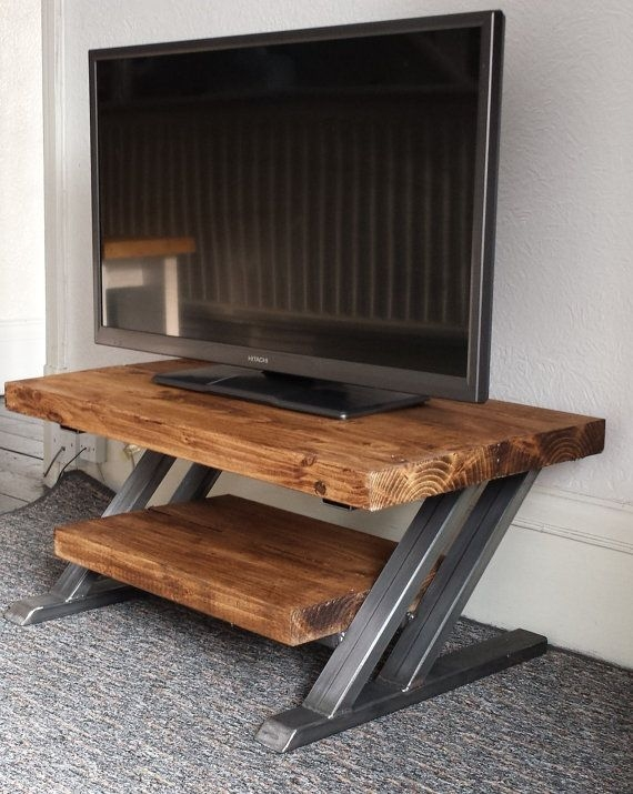 Excellent Best Cheap Rustic TV Stands Pertaining To Best 20 Industrial Tv Stand Ideas On Pinterest Industrial Media (Image 10 of 50)