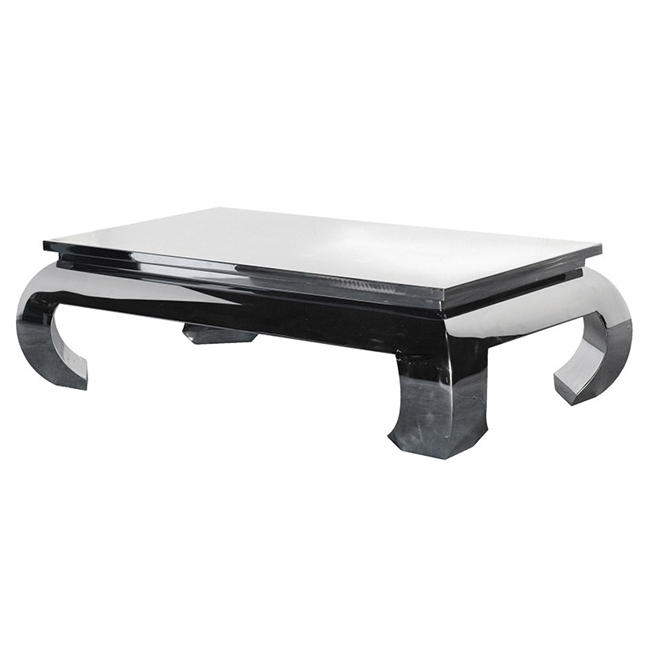 Excellent Best Chrome Leg Coffee Tables Within Chrome Curved Leg Coffee Table (Image 18 of 50)