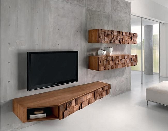 Excellent Best Contemporary Oak TV Stands Throughout Floating Tv Stand Living Room Furniture Tv Stands Fascinating (Image 13 of 50)
