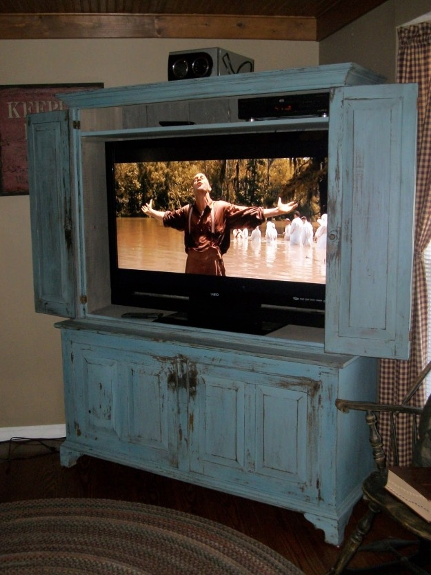 Excellent Best Enclosed TV Cabinets With Doors In Tv Cabinet With Doors  (Image 14 Of
