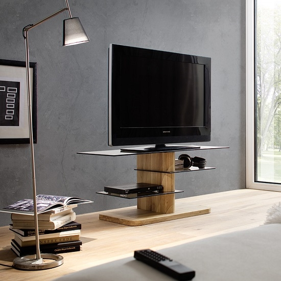Excellent Best Glass And Oak TV Stands For Tv Stands Most Affordable Tv Stand For 75 Inch Tv Ideas (Image 9 of 50)