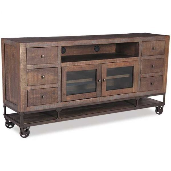 Excellent Best Gold TV Stands Throughout Ifd560stand 76 Urban Gold 76 Inch Tv Stand Artisan Home Afw (View 34 of 50)