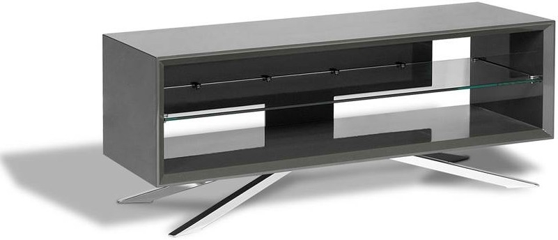 Excellent Best Grey TV Stands Regarding Techlink Grey Arena Aa110g Tv Stand Gloss Frame Live Well Stores (Image 18 of 50)