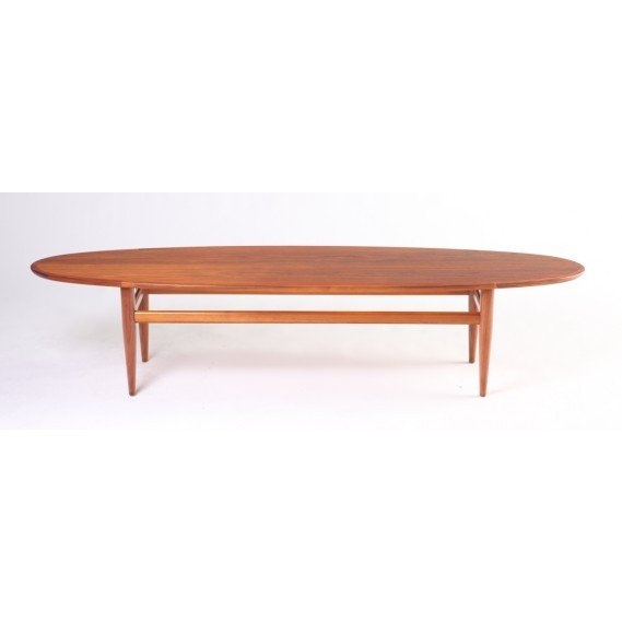 Excellent Best Heritage Coffee Tables Pertaining To Mid Century Drexel Heritage Walnut Surfboard Coffee Table At 1stdibs (Image 14 of 50)