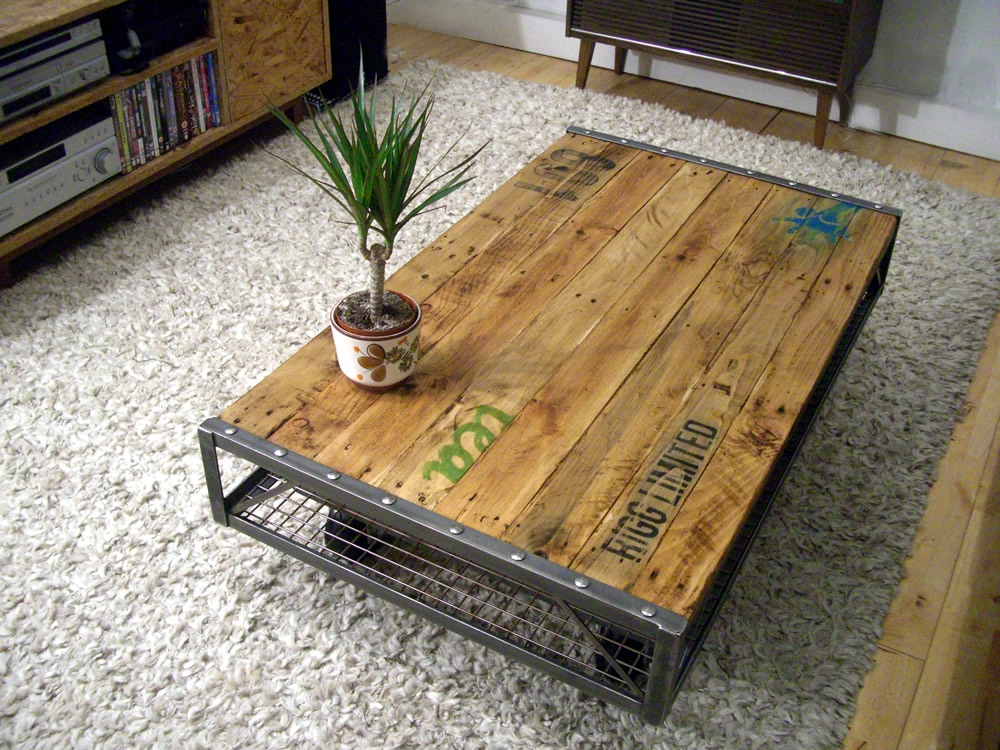 Excellent Best Industrial Style Coffee Tables With Regard To Chic Industrial Style Coffee Table Diy Coffee Table Industrial (Image 15 of 50)