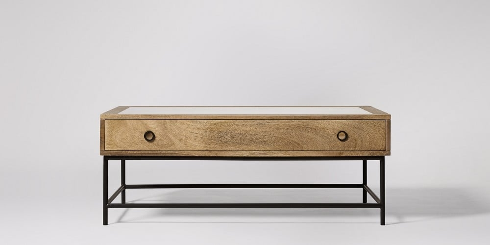 Excellent Best Mango Wood Coffee Tables Throughout Plato Mango Wood Iron Coffee Table Swoon Editions (Image 13 of 50)