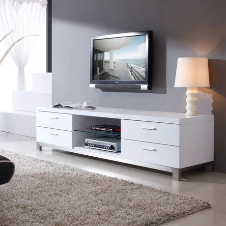 Excellent Best Modern White Lacquer TV Stands Inside Best 25 White Tv Stands Ideas On Pinterest Tv Stand Furniture (Image 10 of 50)