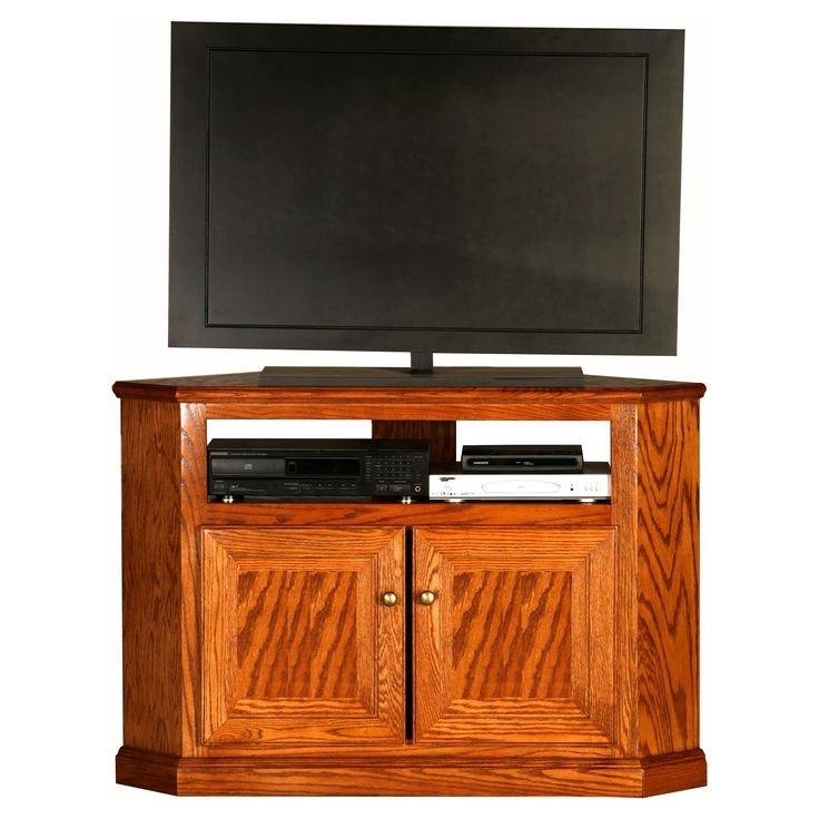 Excellent Best Oak Corner TV Stands For Flat Screens Regarding 54 Best Tv Stand Corner Images On Pinterest Corner Tv Stands (Image 13 of 50)