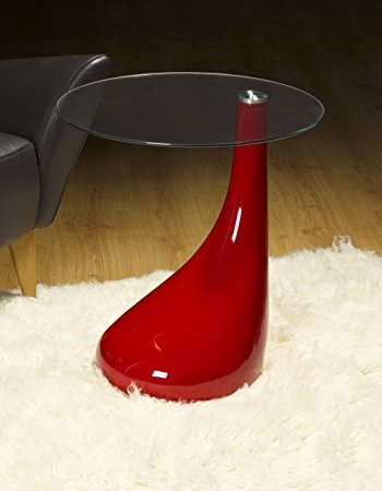 Excellent Best Red Gloss Coffee Tables Intended For Side Table End Table Lamp Table Round Red Gloss Modern (Image 9 of 40)