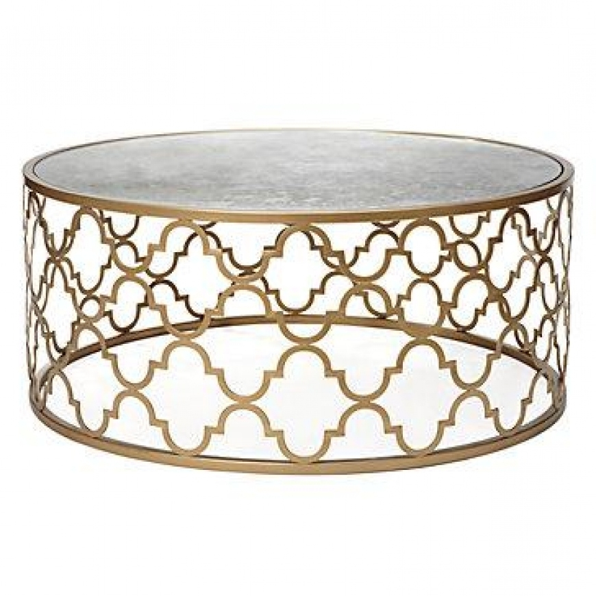 Excellent Best Round Mirrored Coffee Tables Pertaining To Gold Round Mirror Coffee Table Vanities Decoration (Image 7 of 40)