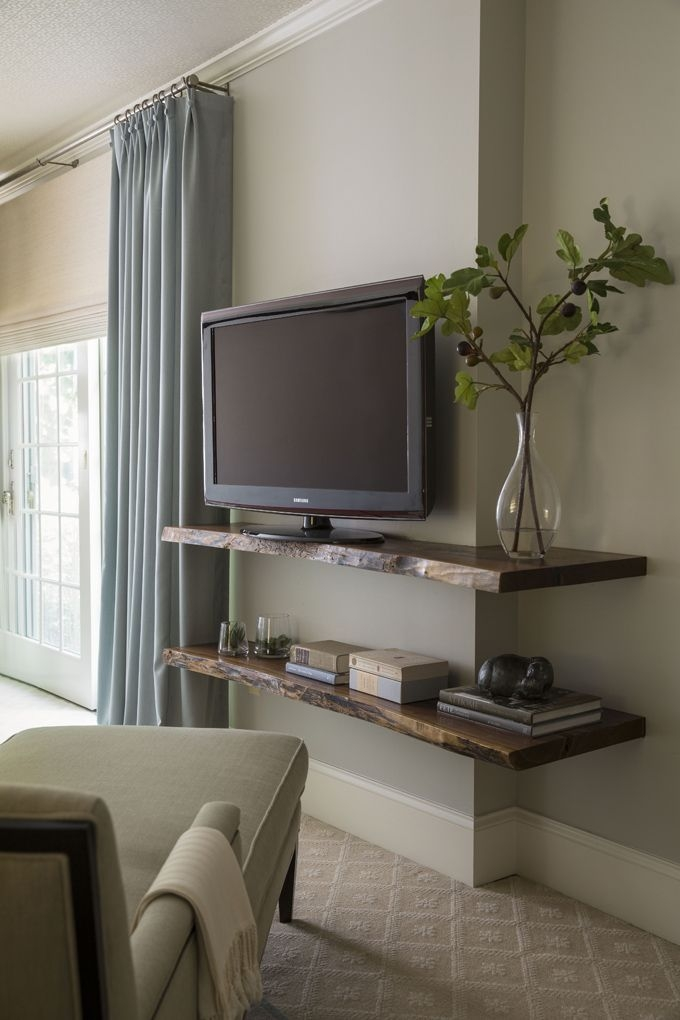 Excellent Best Wall Mounted TV Stands With Shelves Intended For Tv Stands 10 Spaces Saving Wall Mounted Floating Tv Stand Design (Image 15 of 50)