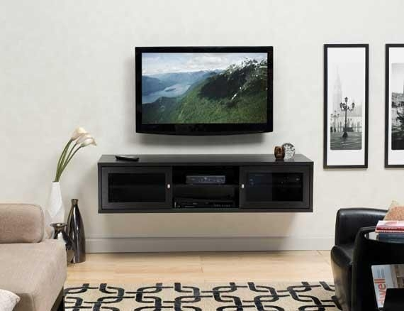 Excellent Best Wall Mounted TV Stands With Shelves With 31 Best Tv Wall Images On Pinterest Entertainment Home And Live (Image 16 of 50)
