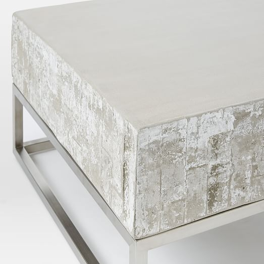 Excellent Best White And Chrome Coffee Tables Within Concrete Chrome Coffee Table West Elm (Image 15 of 50)