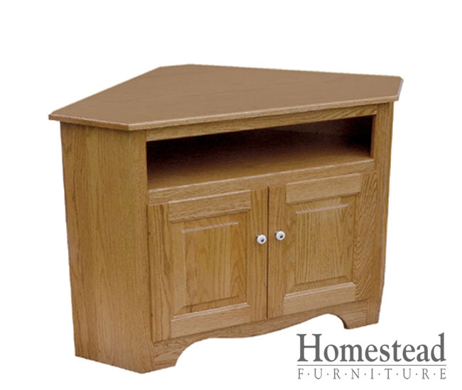 Excellent Brand New 40 Inch Corner TV Stands Inside Custom Built Hardwood Furniture Homestead Furniture Made In Usa (Image 11 of 50)