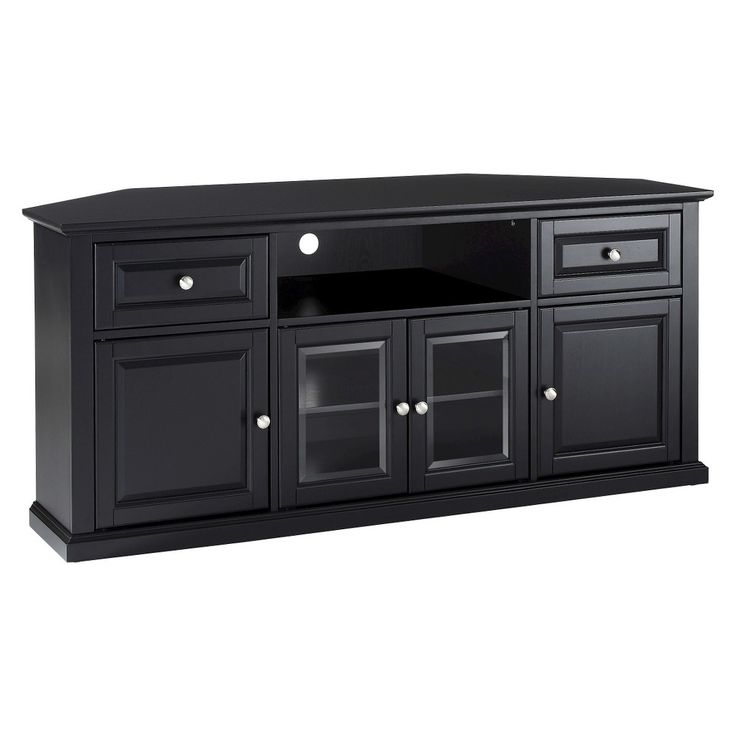Excellent Brand New Black Corner TV Stands For TVs Up To 60 Inside Best 25 Black Corner Tv Stand Ideas On Pinterest Small Corner (Image 12 of 50)