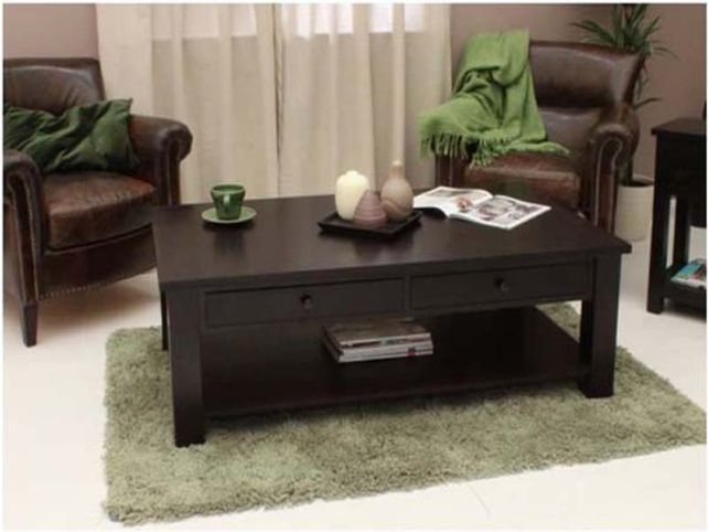 Excellent Brand New Black Wood Coffee Tables Within Dark Wood Coffee Table (Image 13 of 40)