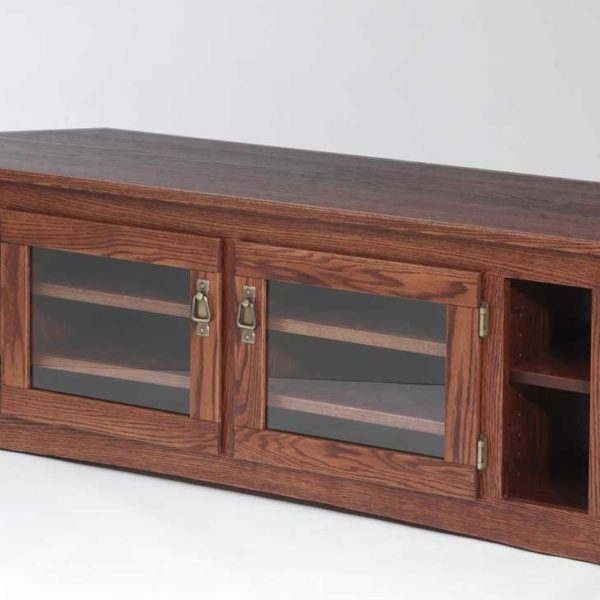 Excellent Brand New Corner Oak TV Stands With Regard To Solid Oak Mission Style Corner Tv Stand 60 The Oak Furniture Shop (Image 9 of 50)