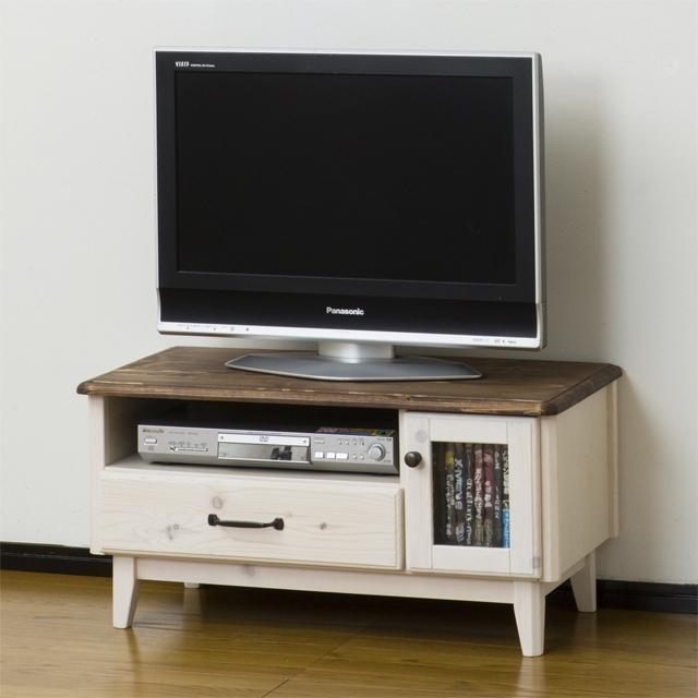 Excellent Brand New Country Style TV Stands With Dreamrand Rakuten Global Market Tv Stand Width 80 Cm Whitewash (View 12 of 50)