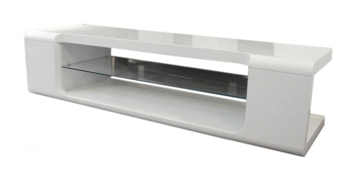 Excellent Brand New Cream Gloss TV Stands With Dockland Prestige Residential Parker High Gloss Tv Unit (Image 14 of 50)