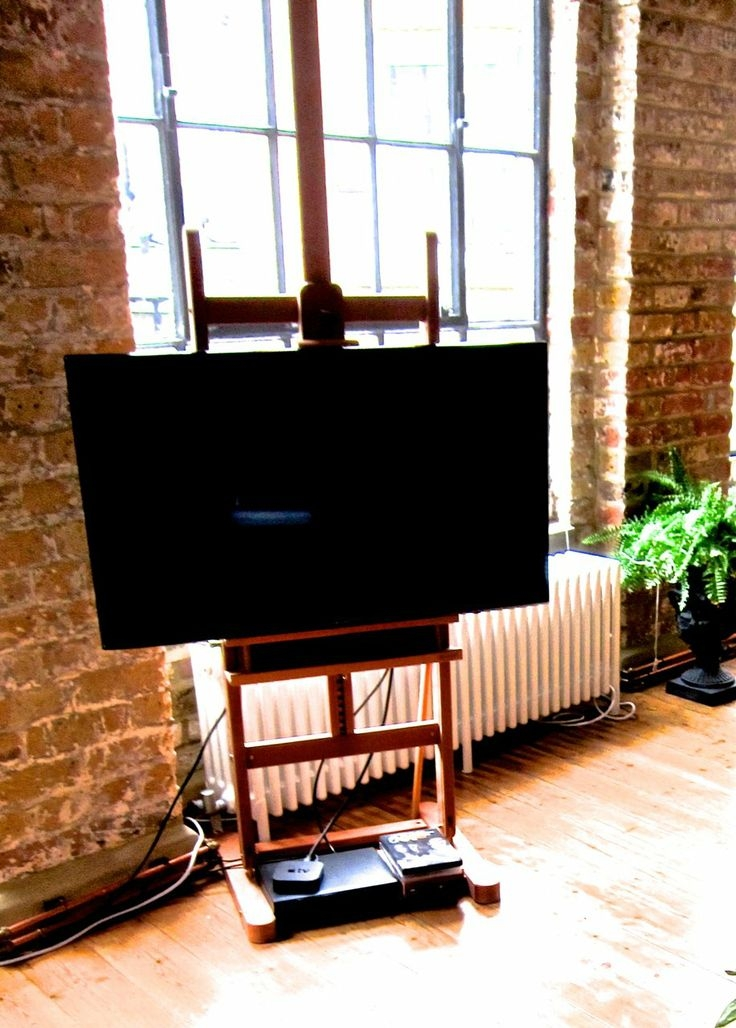 Excellent Brand New Easel TV Stands For Flat Screens Throughout 8 Best What To Do With Tv Images On Pinterest Easels Flat (View 31 of 50)