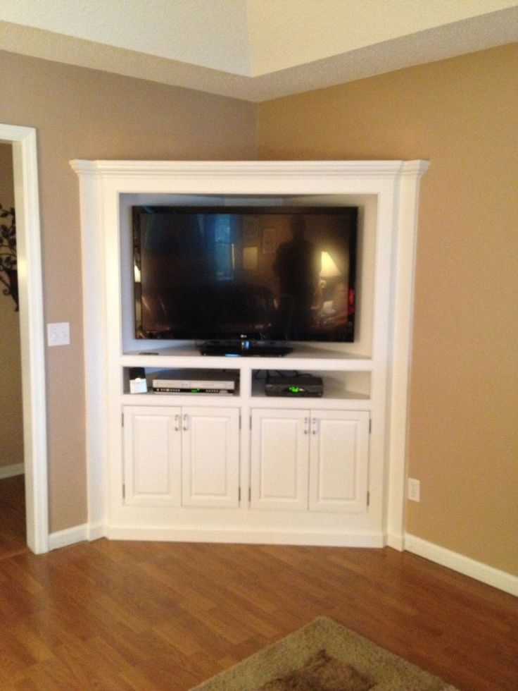 Excellent Brand New Flat Screen TV Stands Corner Units With Regard To Best 25 Corner Media Cabinet Ideas On Pinterest Corner (Image 17 of 50)