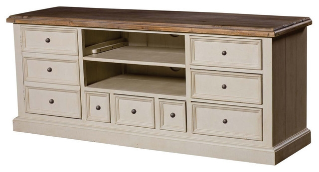 Excellent Brand New French Country TV Stands Regarding French Country Solid Wood 63 Lcd Tv Stand Transitional Media (View 5 of 50)