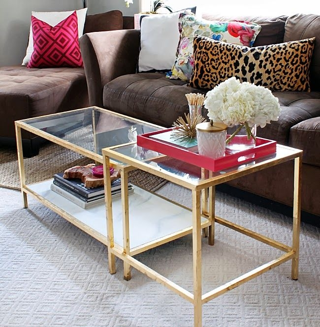Excellent Brand New Glass Gold Coffee Tables Intended For Best 25 Round Coffee Table Ikea Ideas On Pinterest Ikea Glass (View 34 of 50)