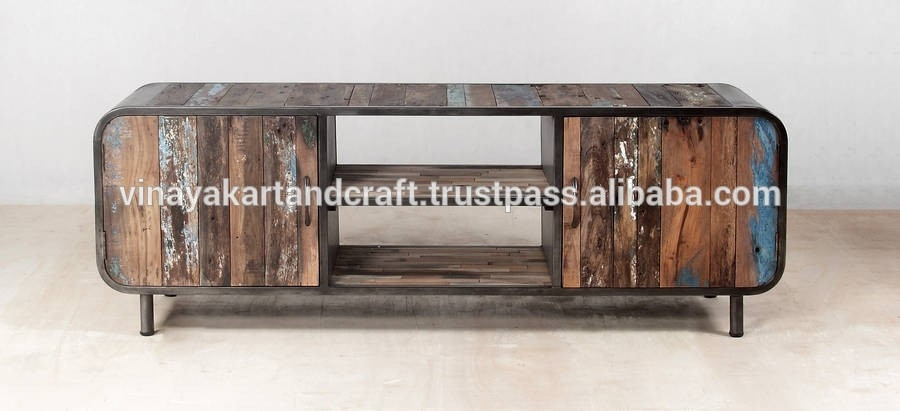 Excellent Brand New Industrial Metal TV Stands In Industrial Style Wooden Tv Standvintage Tv Stand Buy Cheap Tv (Image 13 of 50)