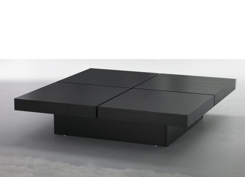 Excellent Brand New Large Square Wood Coffee Tables Regarding Coffee Tables Design Large Black Coffee Table Square Kyoto Four (Photo 41 of 50)