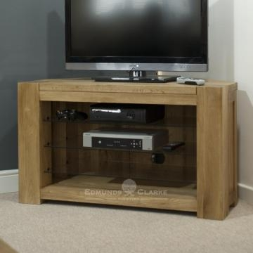 Excellent Brand New Light Oak Corner TV Cabinets Intended For Newmarket Oak Collection (Image 20 of 50)