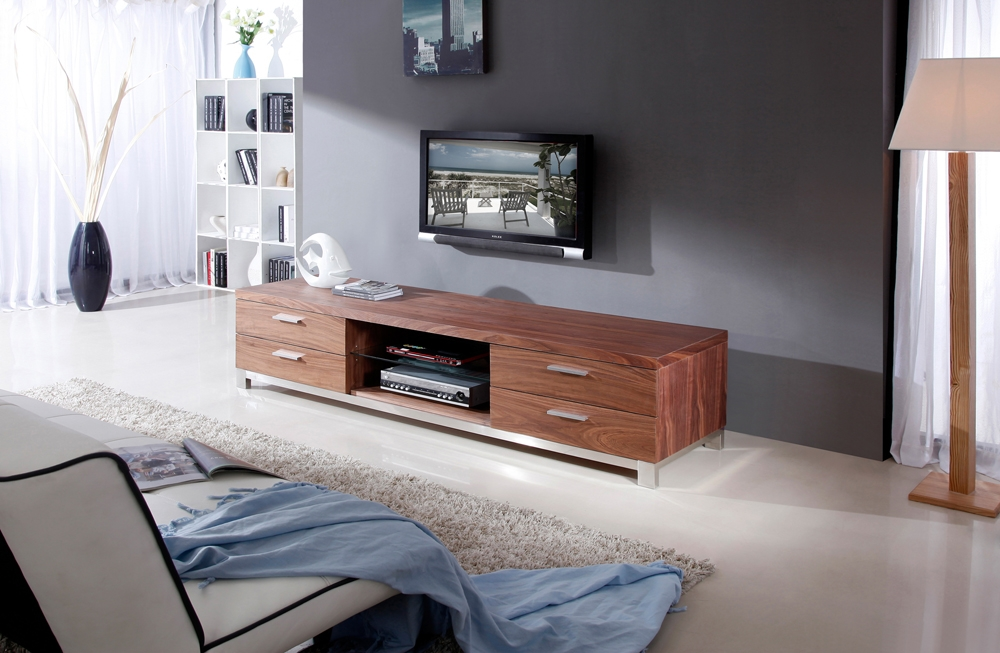 Excellent Brand New Modern Walnut TV Stands In B Modern Promoter Tv Stand Light Walnut B Modern Modern Manhattan (View 6 of 50)