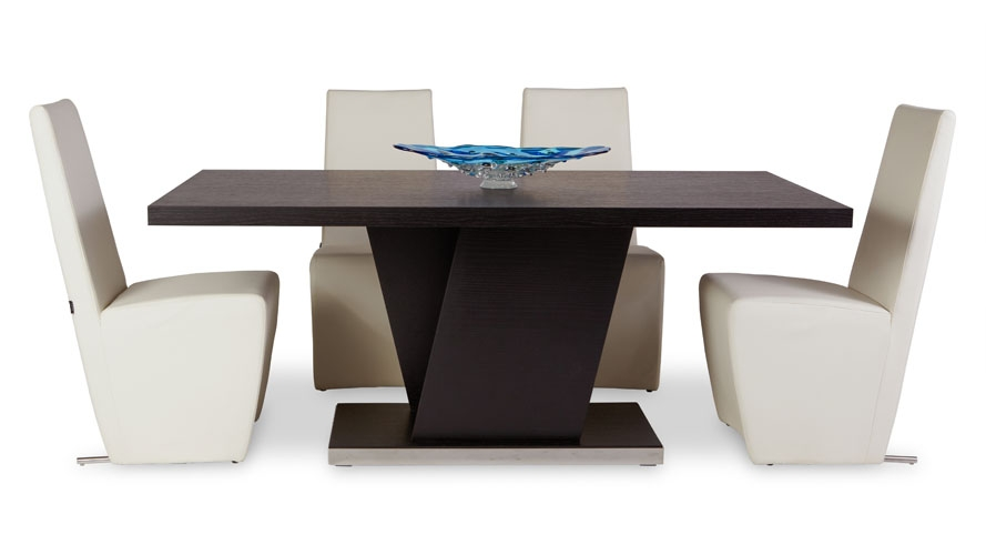 Excellent Brand New Nelson Coffee Tables Pertaining To Nelson Espresso Wood Modern Dining Table With Chrome Accent Zuri (Image 8 of 50)