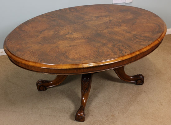 Excellent Brand New Oval Walnut Coffee Tables Regarding Antique Victorian Walnut Coffee Table (Image 12 of 50)