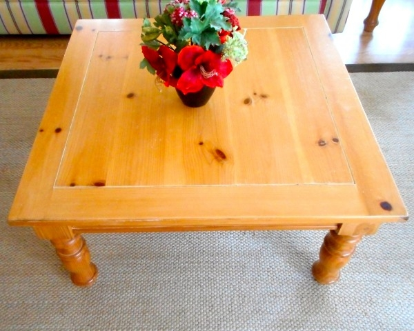 Excellent Brand New Square Pine Coffee Tables With Regard To Consignment Furniture Living Rooms Outer Banks Foreclosures (Image 18 of 50)