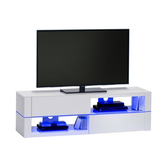Excellent Brand New TV Stands With LED Lights Throughout Jimmy White High Gloss Lcd Tv Stand With Led Light And (Image 11 of 50)