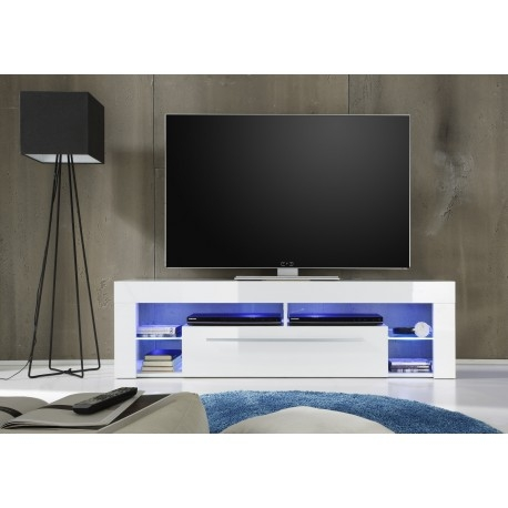Excellent Brand New TV Stands With LED Lights With Score Tv Stand In White High Gloss With Led Lights Tv Stands (Image 12 of 50)