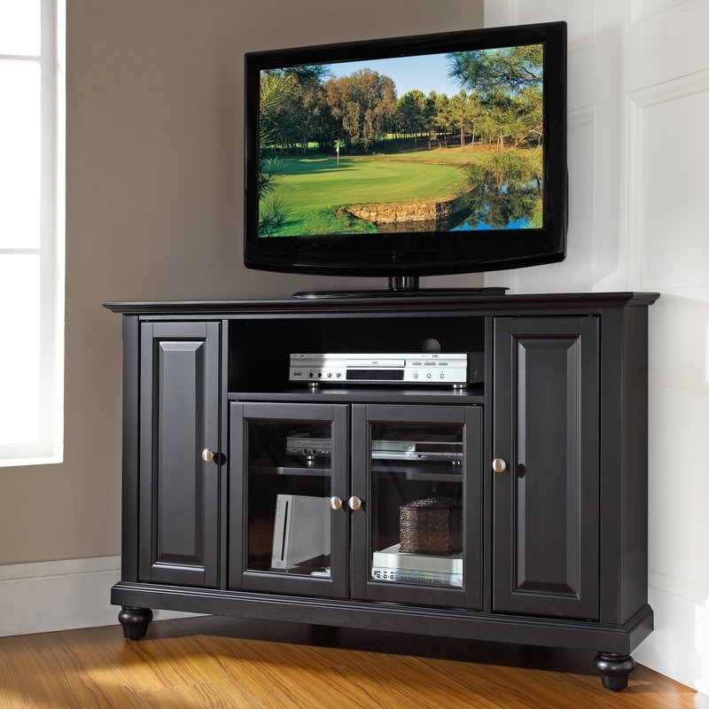 Excellent Brand New Wayfair Corner TV Stands With Regard To Dar Home Co Merilee 48 Corner Tv Stand Reviews Wayfair (View 37 of 50)