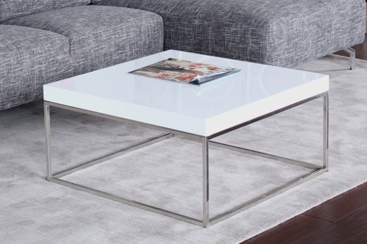 Excellent Brand New White And Chrome Coffee Tables In Coffee Table Marvelous Square White Coffee Table White Coffee (Image 16 of 50)