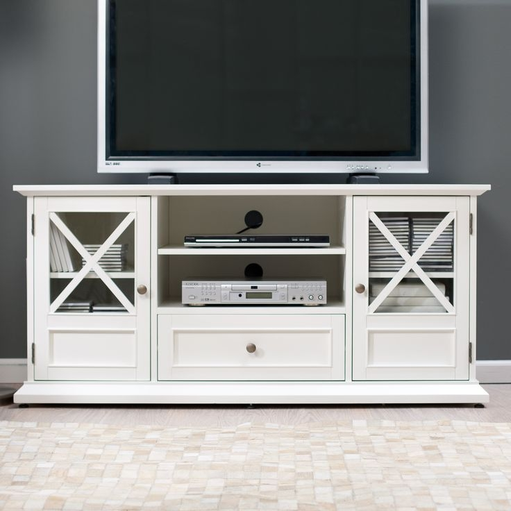 Excellent Brand New White Oval TV Stands With Best 25 White Tv Stands Ideas On Pinterest Tv Stand Furniture (Image 12 of 50)