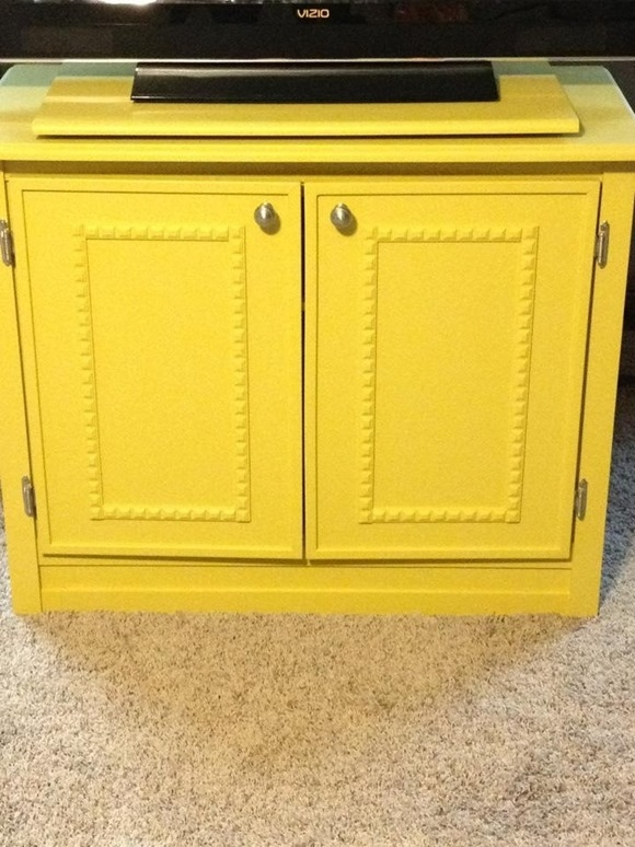 Excellent Brand New Yellow TV Stands Intended For Repurposed Console Tv (View 23 of 50)