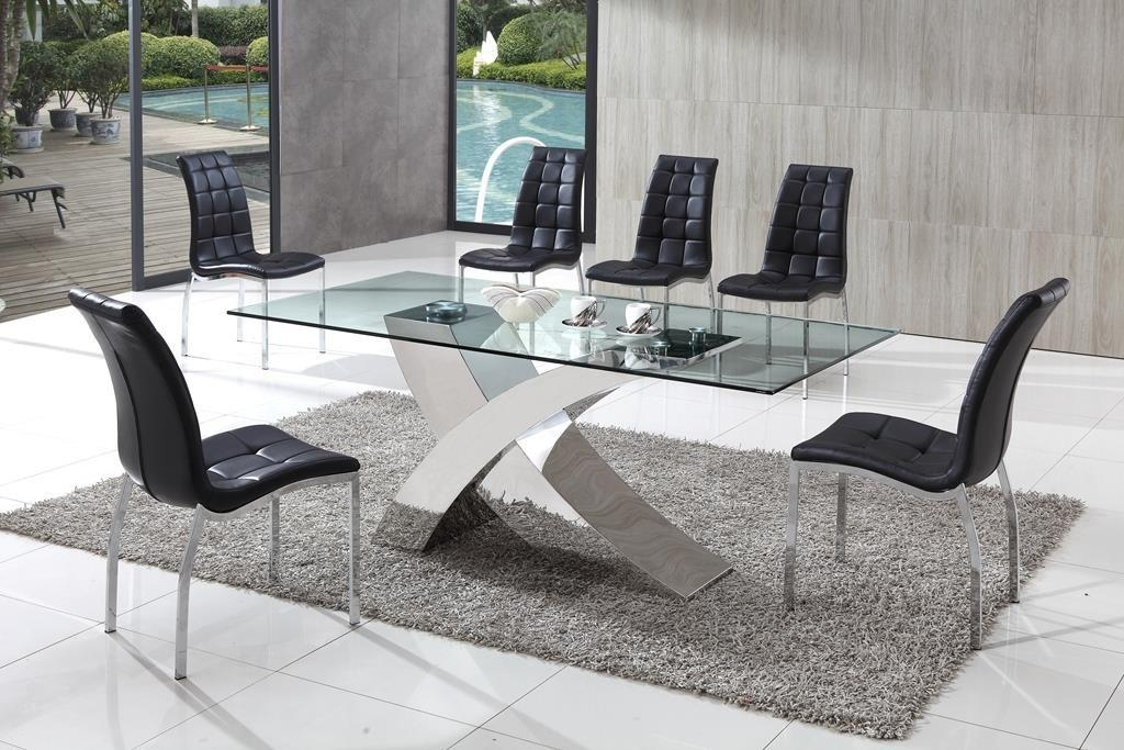 Excellent Cheap Glass Dining Tables And Chairs Small Square Table In Glass Dining Tables And Chairs (View 5 of 20)