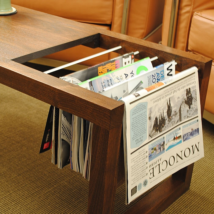 Excellent Common Coffee Tables With Magazine Rack Within Tavo Coffee Table And Magazine Rack Data Furniture (Image 10 of 50)