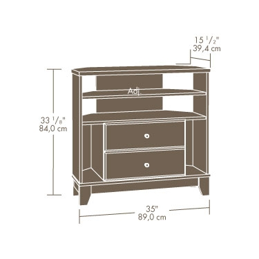 Excellent Common Cornet TV Stands Pertaining To Sauder Camarin Milled Cherry Corner Tv Stand (View 39 of 50)