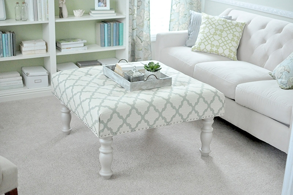 Excellent Common Fabric Coffee Tables With Fabric Ottoman Coffee Table (View 8 of 50)