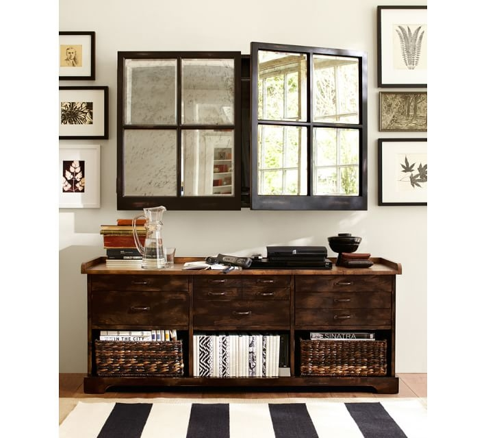 Excellent Common Mirrored TV Cabinets Inside Mirror Cabinet Tv Covers Pottery Barn (View 16 of 50)