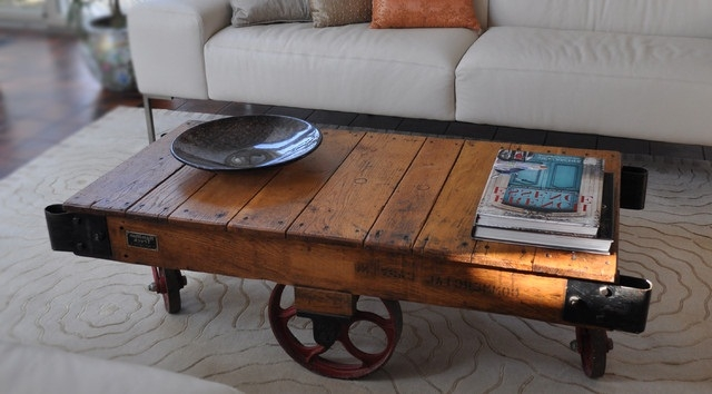 Excellent Common Rustic Coffee Table With Wheels Within The Unique Rustic Coffee Tables For Sale (Image 16 of 50)