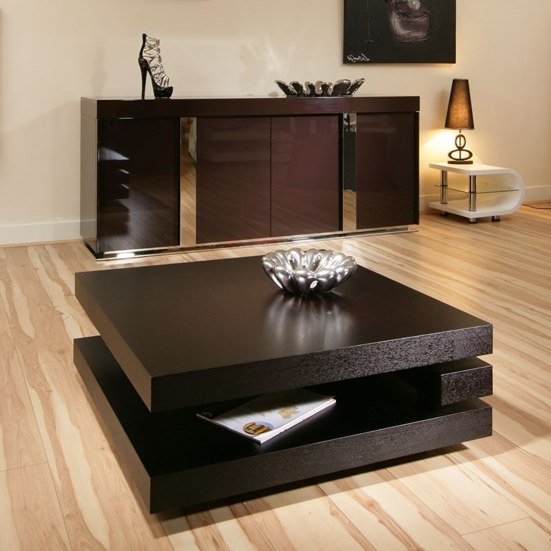 Excellent Common Square Black Coffee Tables Regarding Square Black Coffee Table (View 18 of 40)