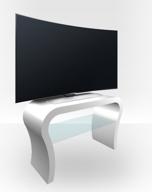 Excellent Common White Gloss TV Stands Throughout White Gloss Tv Stand Curved Free Uk Delivery Zespoke (Image 16 of 50)
